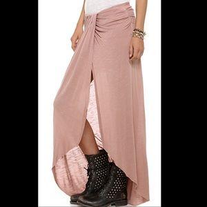 Free People Maxi Skirt Pale Mauve - XS